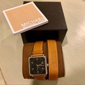 MICHAEL Michael Kors Leather Wrap Wrist Watch